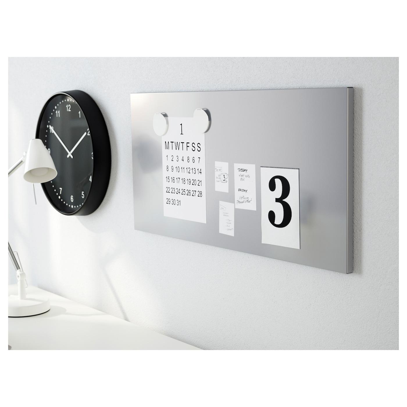 spontan tableau magn tique couleur argent 37x78 cm ikea. Black Bedroom Furniture Sets. Home Design Ideas