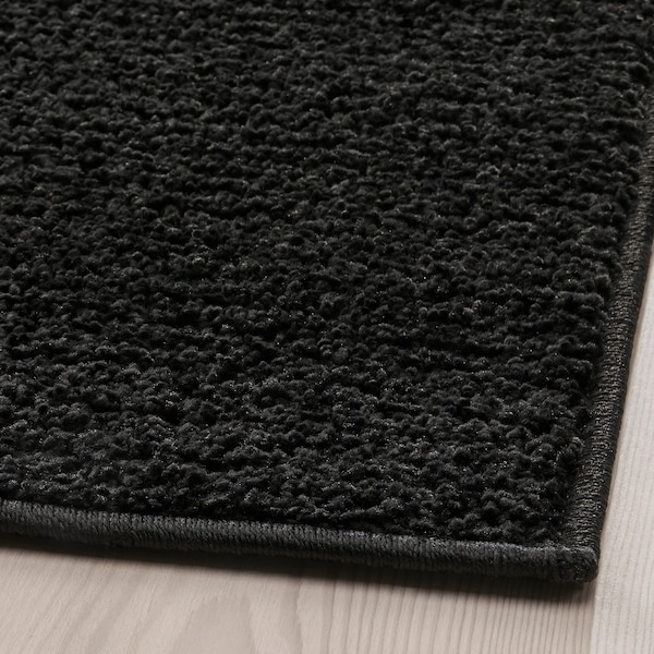 SPORUP Tapis, poils ras, noir, 170x240 cm