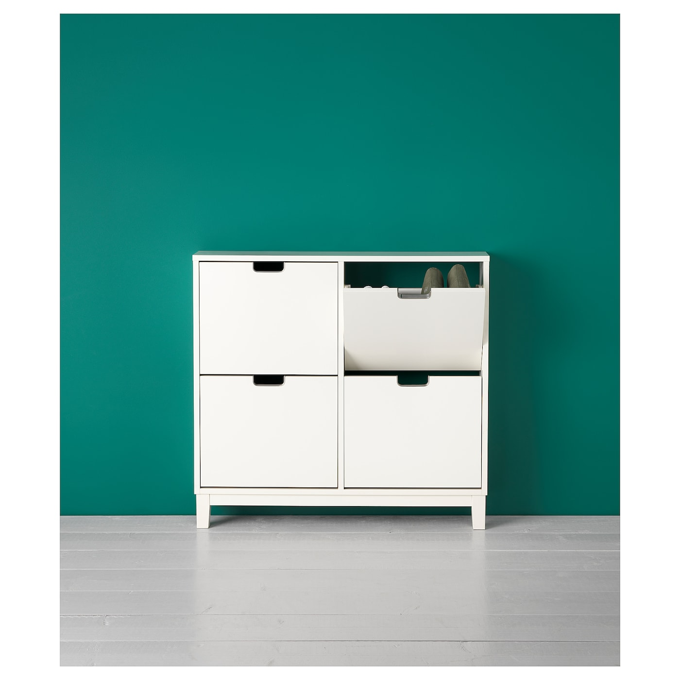 st ll range chaussures 4 casiers blanc 96x90 cm ikea. Black Bedroom Furniture Sets. Home Design Ideas