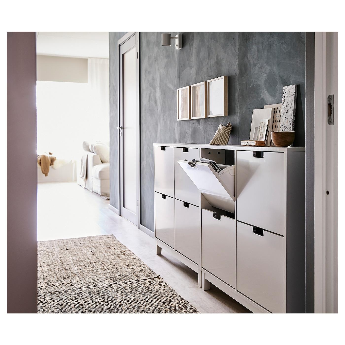 st ll range chaussures 4 casiers blanc 96 x 90 cm ikea. Black Bedroom Furniture Sets. Home Design Ideas