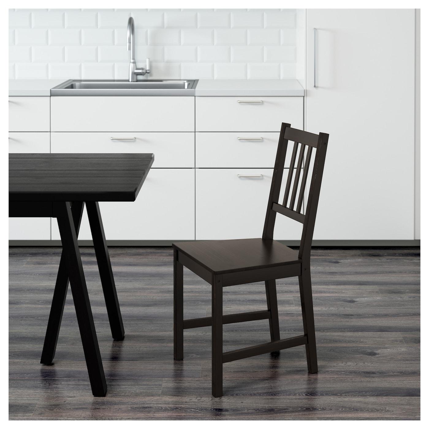 stefan chaise brun noir ikea. Black Bedroom Furniture Sets. Home Design Ideas