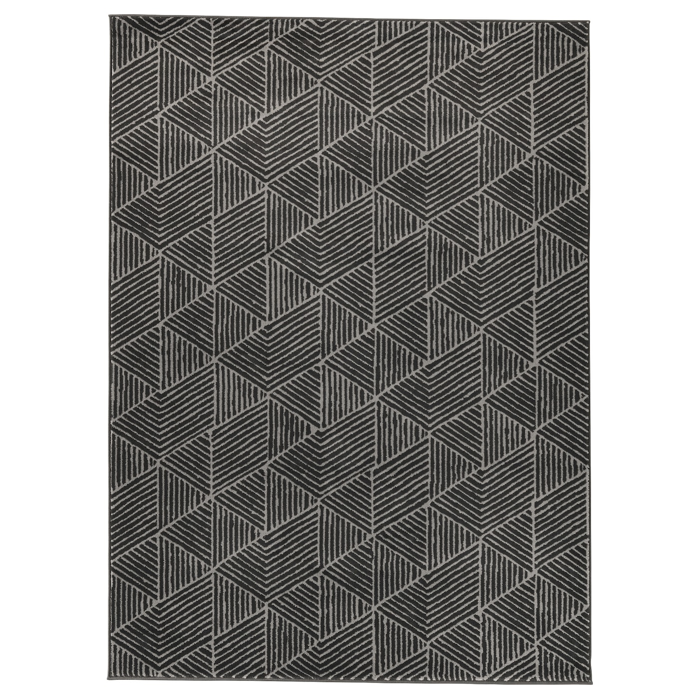Stenlille tapis poils ras gris 170x240 cm ikea - Tapis gris ikea ...