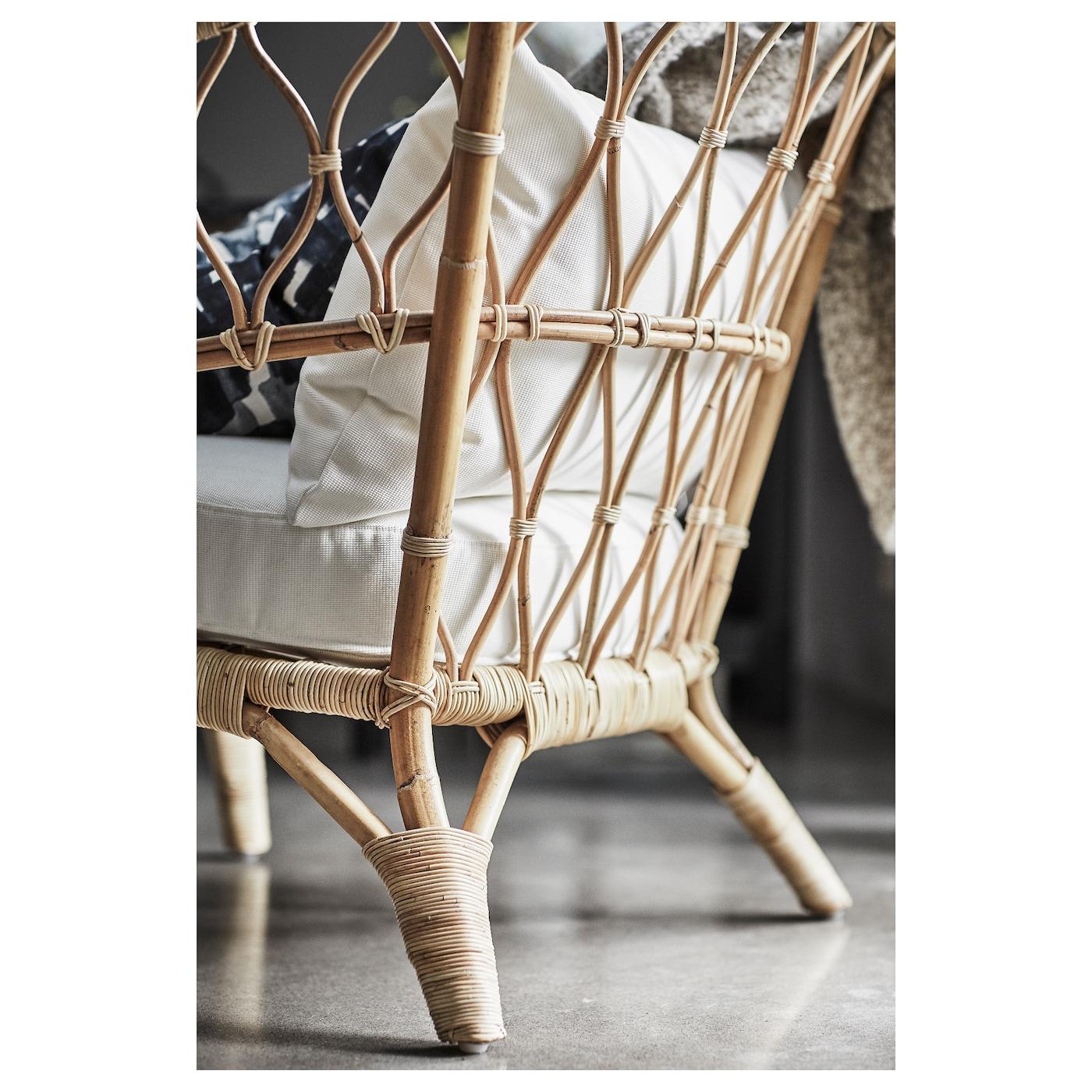 stockholm 2017 fauteuil avec coussin rotin r st nga blanc. Black Bedroom Furniture Sets. Home Design Ideas
