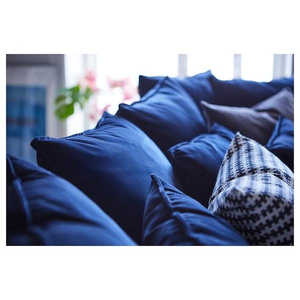 STOCKHOLM 2017 canapé 3 places Sandbacka bleu foncé 228 cm 112 cm 72 cm 72 cm 190 cm 97 cm 46 cm