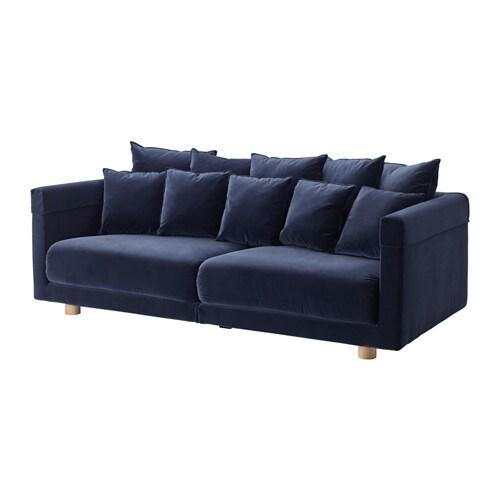 stockholm 2017 canap 3 places sandbacka bleu fonc ikea. Black Bedroom Furniture Sets. Home Design Ideas