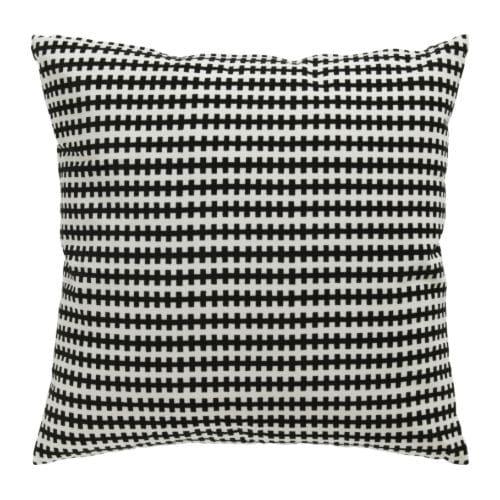 STOCKHOLM Coussin Noir/blanc 50 x 50 cm   IKEA