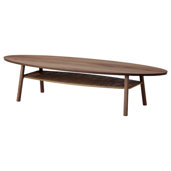 STOCKHOLM Table basse, plaqué noyer, 180x59 cm