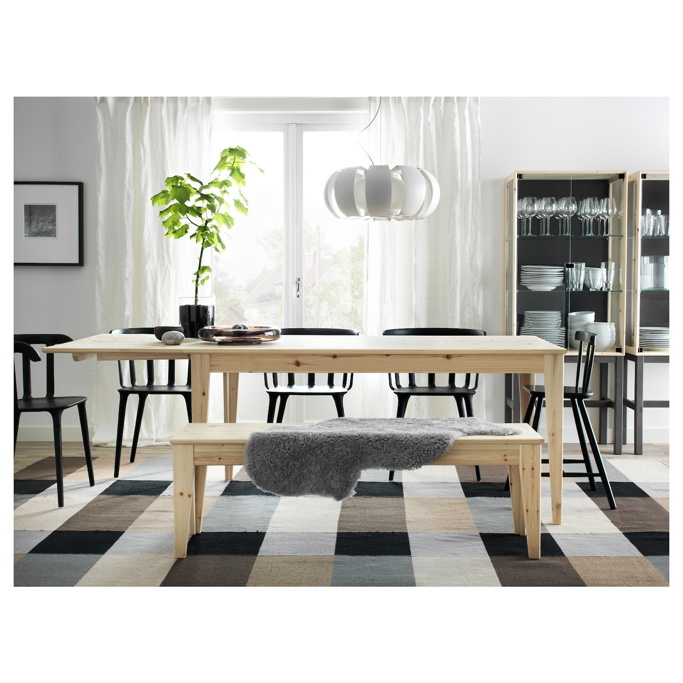 stockholm tapis tiss plat fait main carreaux brun 250x350 cm ikea. Black Bedroom Furniture Sets. Home Design Ideas