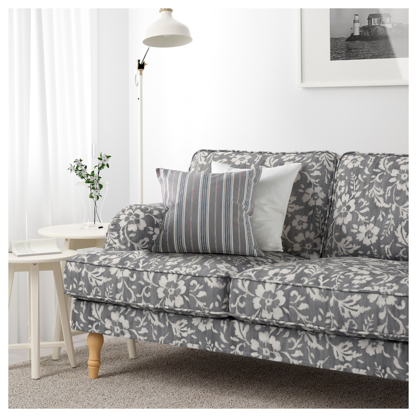 stocksund canap 2 places hovsten gris blanc brun clair bois ikea. Black Bedroom Furniture Sets. Home Design Ideas