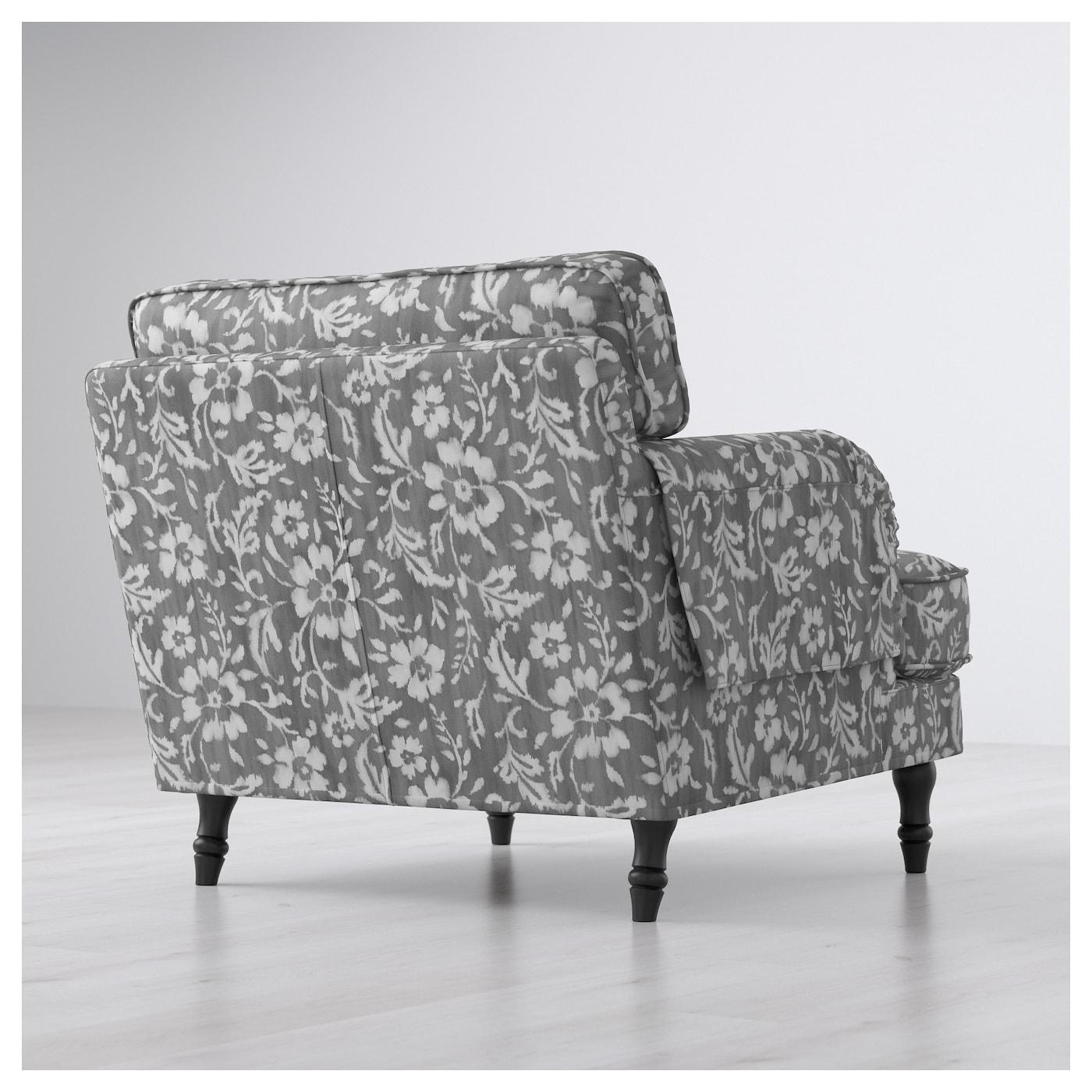 Stocksund fauteuil hovsten gris blanc noir bois ikea - Fauteuil blanc ikea ...