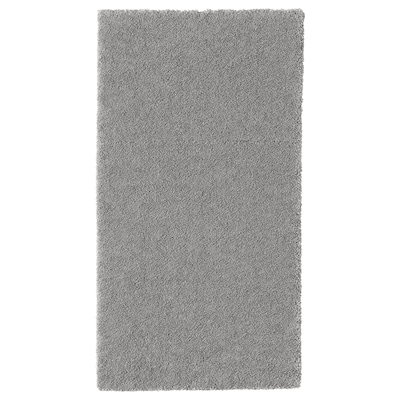 STOENSE Tapis, poils ras, gris moyen, 80x150 cm