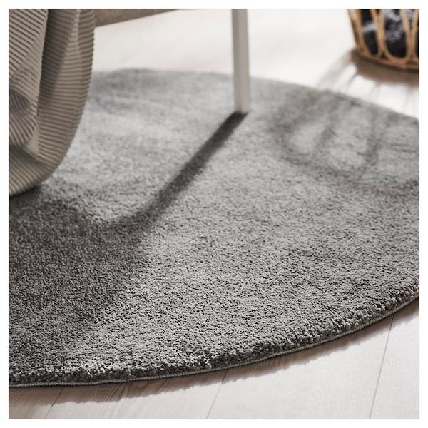 STOENSE Tapis, poils ras, gris moyen, 130 cm