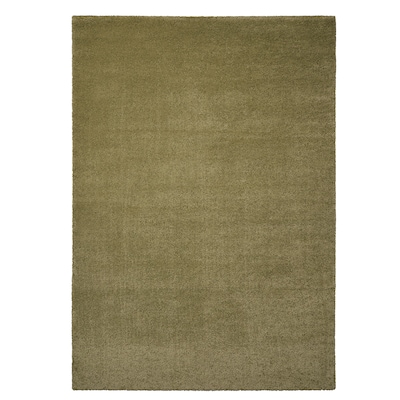 STOENSE Tapis, poils ras, vert olive clair, 133x195 cm