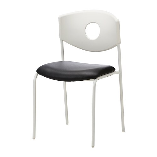 STOLJAN Chaise conférence Blanc noir IKEA