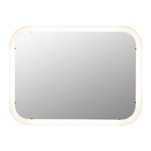 STORJORM Miroir avec éclairage intégré Blanc 80x60 cm IKEA