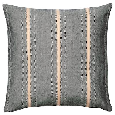STORTIMJAN Housse de coussin, noir/beige, 50x50 cm