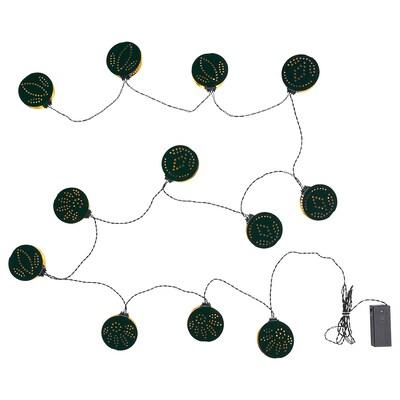 STRÅLA Guirlande lumineuse à LED 12 amp, à pile/plusieurs motifs