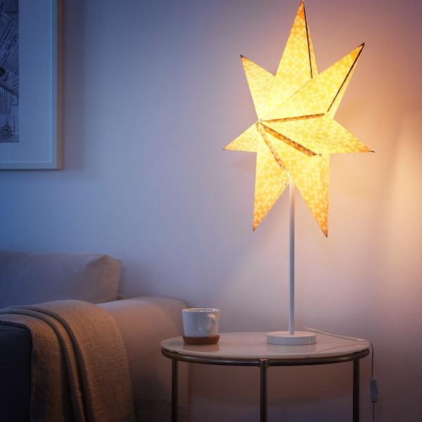 STRÅLA Pied de lampe de table, blanc