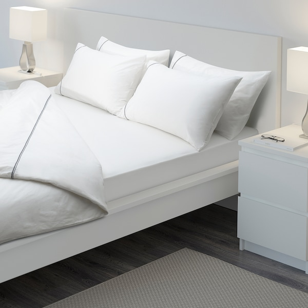 STRANDLOKA Drap housse, blanc, 140x200 cm