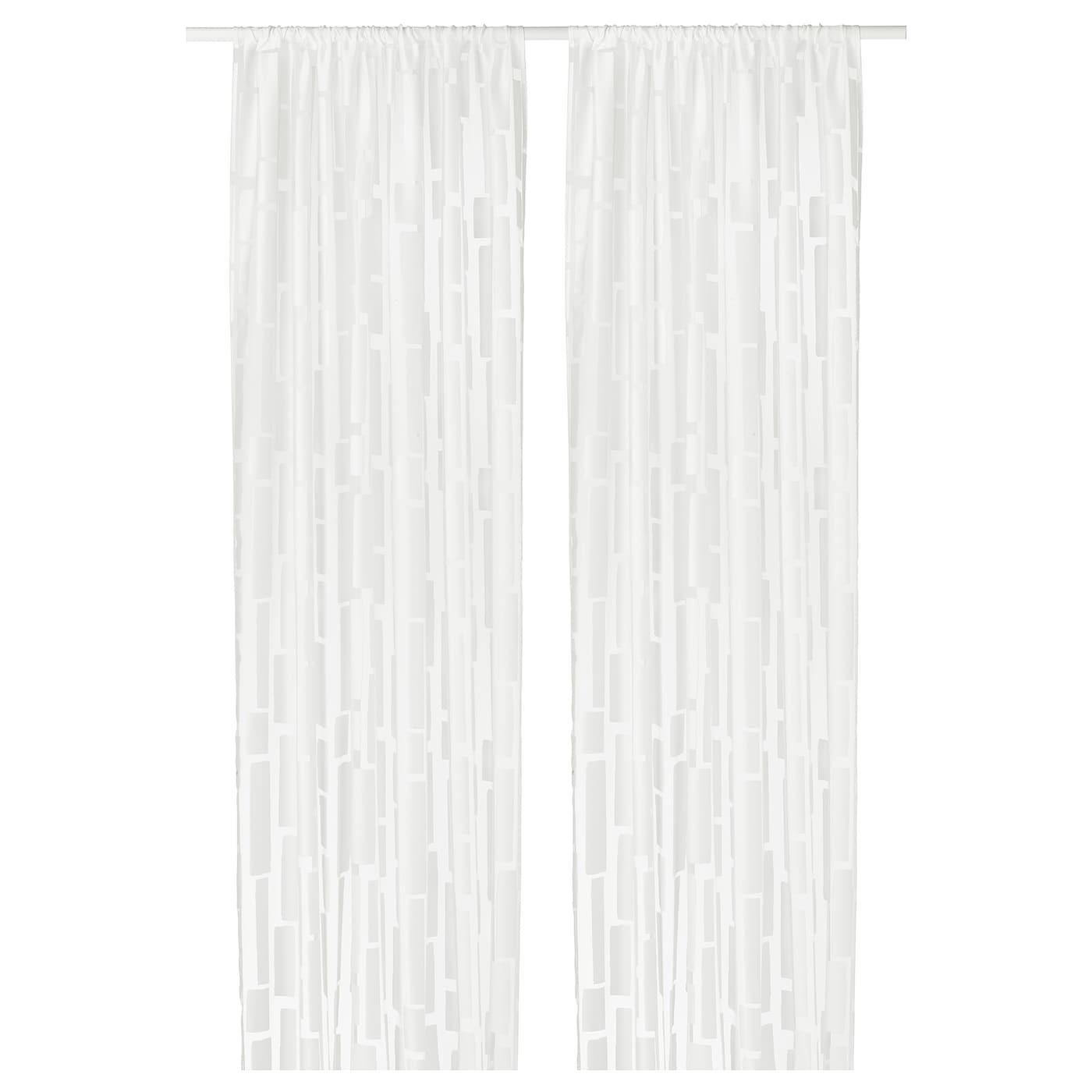 strandr g voilage 1 paire blanc 145x300 cm ikea. Black Bedroom Furniture Sets. Home Design Ideas