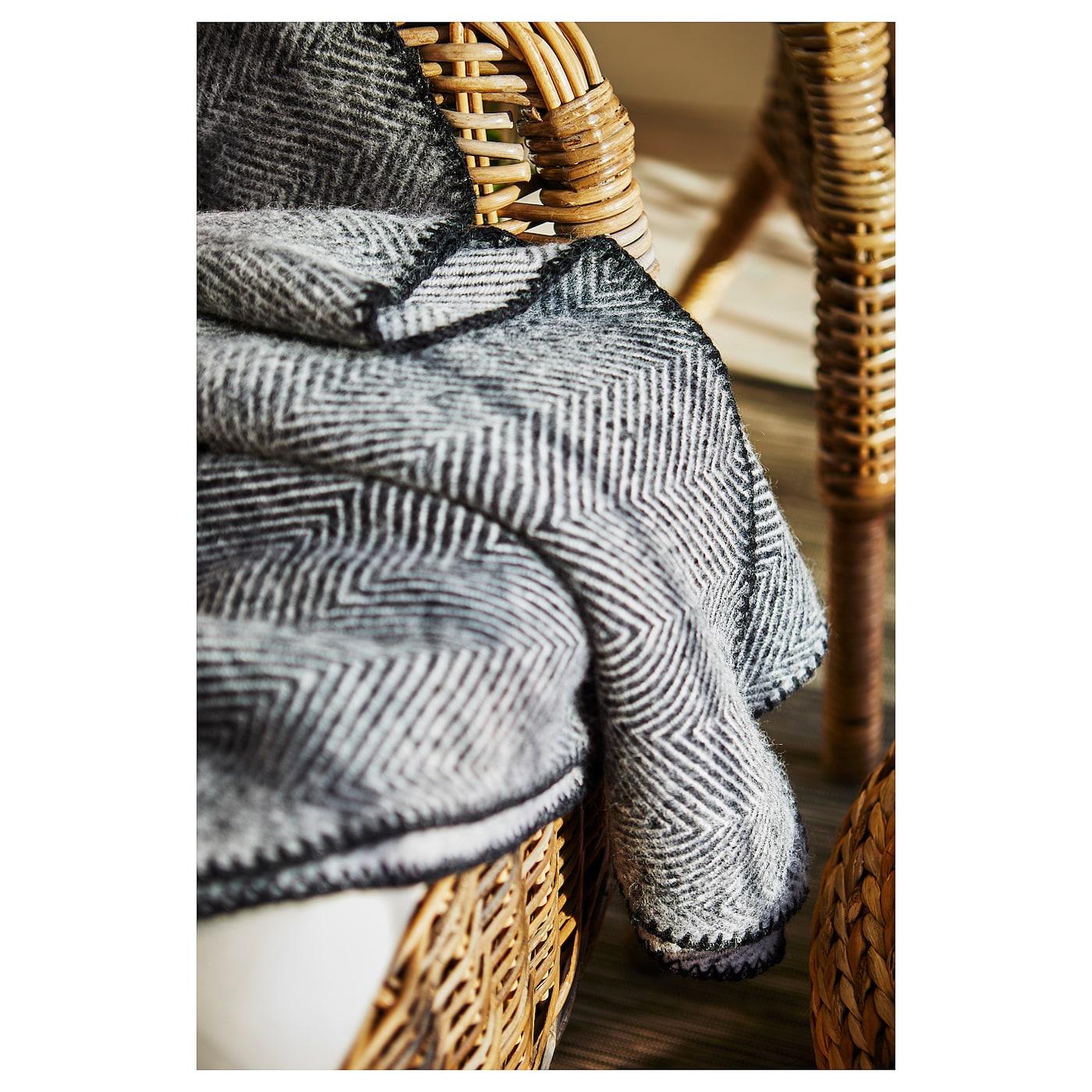 striml nn plaid gris 150x200 cm ikea. Black Bedroom Furniture Sets. Home Design Ideas
