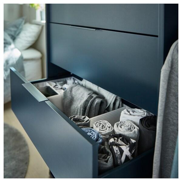 STUK Boîte à compartiments, blanc/gris, 34x51x10 cm