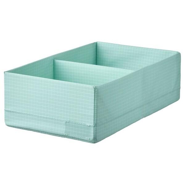 STUK Rangement à compartiments, turquoise clair, 20x34x10 cm