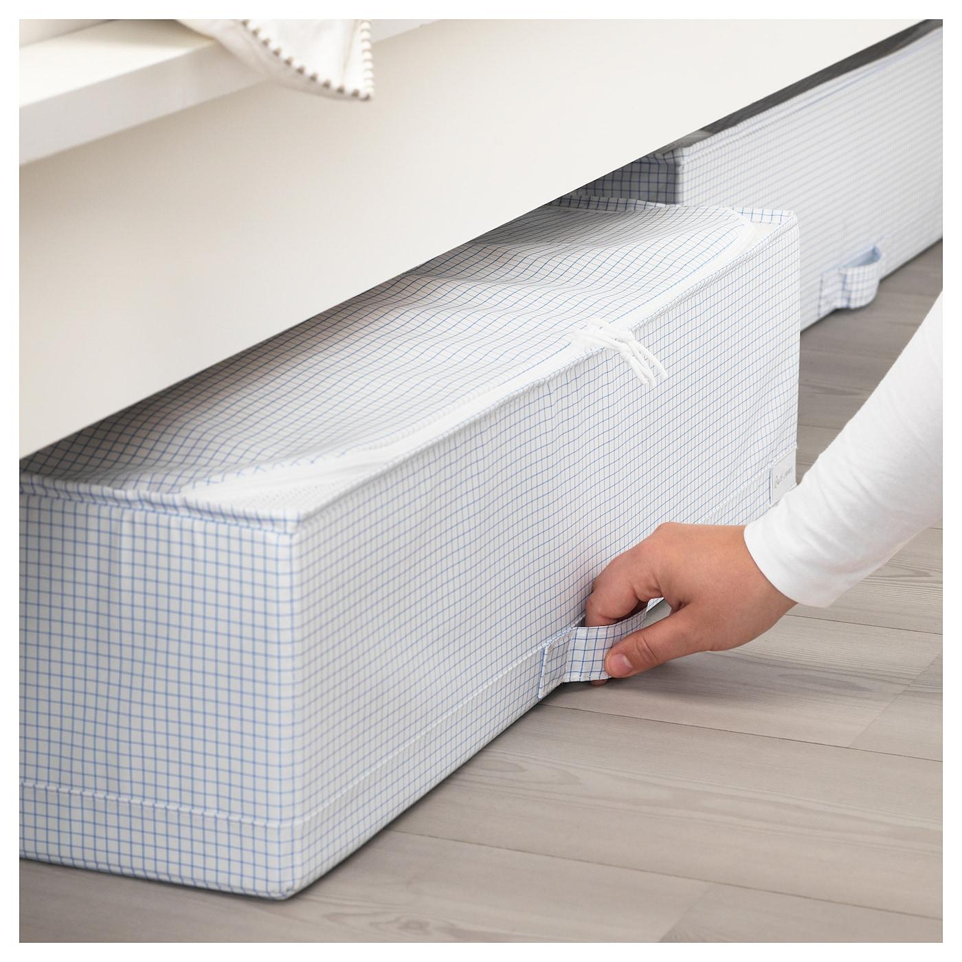 stuk sac de rangement blanc bleu 71x51x18 cm ikea. Black Bedroom Furniture Sets. Home Design Ideas