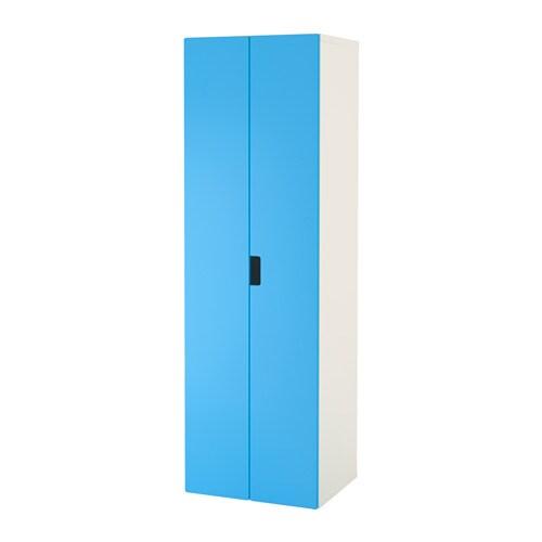 stuva armoire penderie blanc bleu ikea. Black Bedroom Furniture Sets. Home Design Ideas