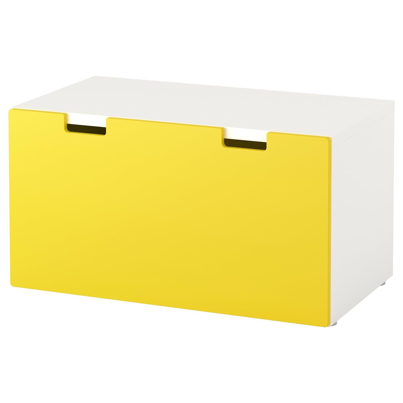 stuva banc avec rangement blanc jaune 90x50x50 cm ikea. Black Bedroom Furniture Sets. Home Design Ideas