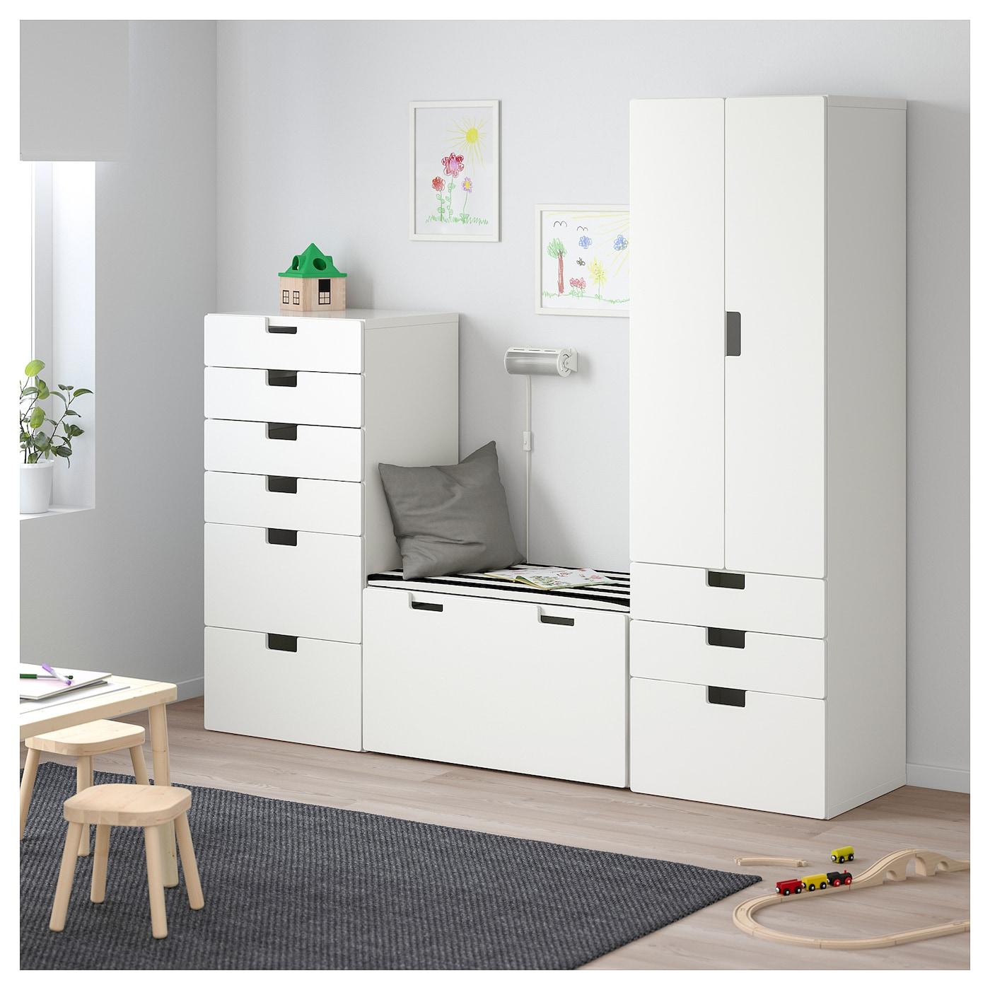 stuva combinaison de rangement blanc blanc 210x50x192 cm ikea. Black Bedroom Furniture Sets. Home Design Ideas