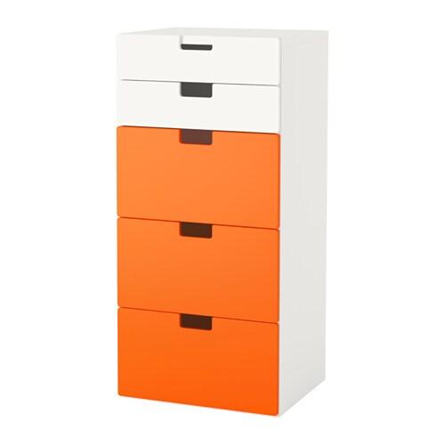 Stuva combinaison rangement tiroirs blanc orange ikea - Rangement tiroir cuisine ikea ...