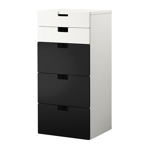 stuva combinaison rangement tiroirs blanc noir ikea. Black Bedroom Furniture Sets. Home Design Ideas