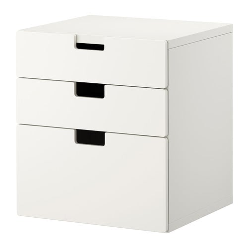 Stuva commode 3 tiroirs blanc ikea for Commode 4 tiroirs ikea