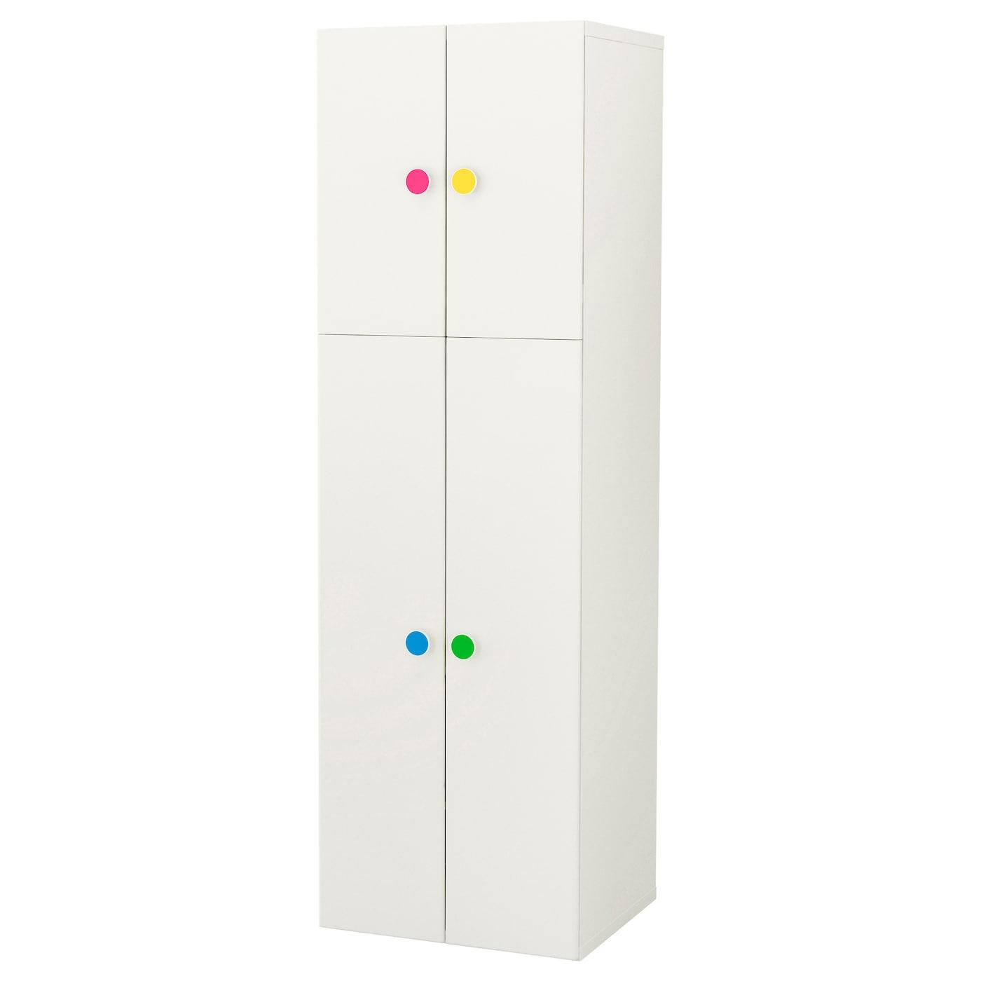 Stuva f lja armoire penderie 4 portes blanc 60x50x192 cm for Armoire penderie 4 portes