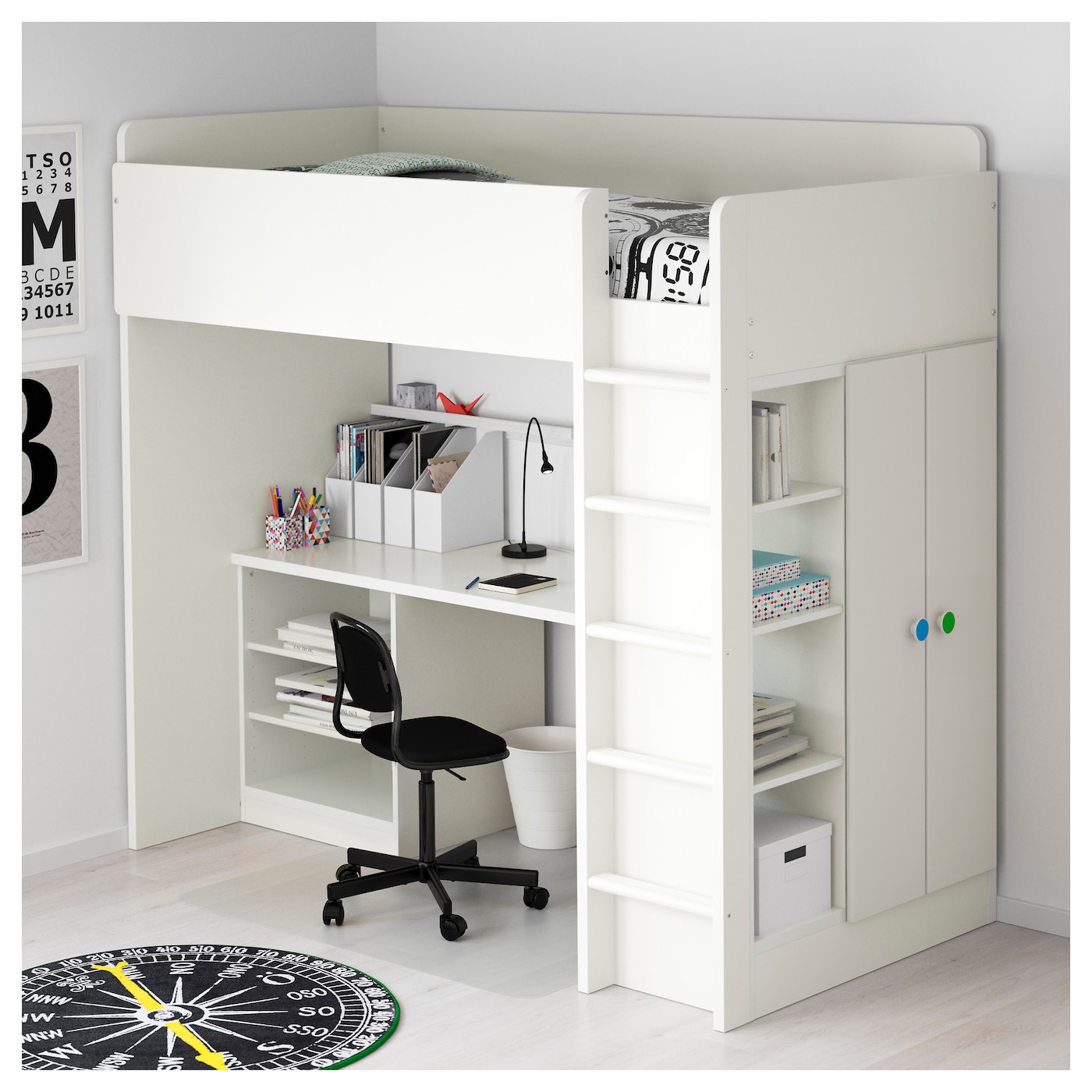 stuva f lja combi lit mezz 2 tabl 2ptes blanc 207x99x193 cm ikea. Black Bedroom Furniture Sets. Home Design Ideas