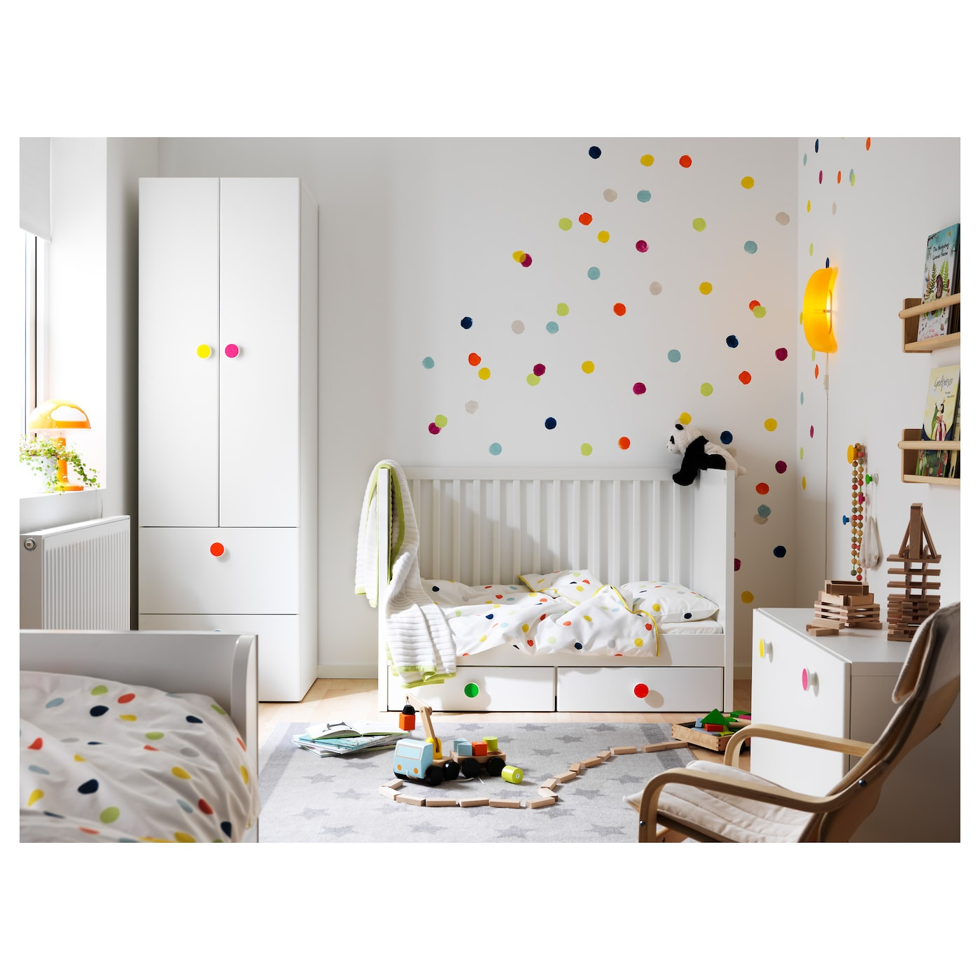 stuva f lja lit enfant tiroirs blanc 60x120 cm ikea. Black Bedroom Furniture Sets. Home Design Ideas