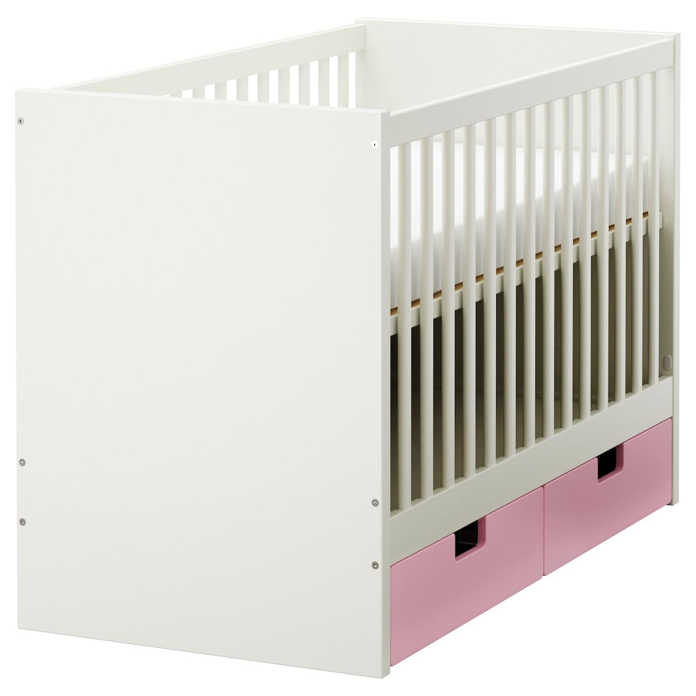 stuva lit enfant tiroirs rose 60x120 cm ikea. Black Bedroom Furniture Sets. Home Design Ideas