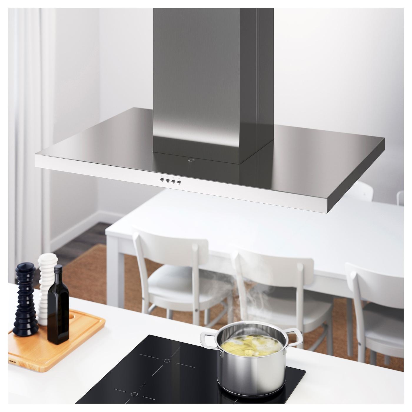 SVÄVANDE Hotte aspirante, plafond Acier inoxydable 49 cm - IKEA - Hotte Extraction