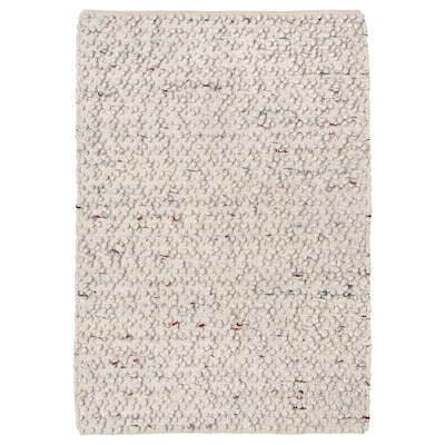 SVÄRDBORG Tapis tissé à plat, fait main blanc cassé/multicolore, 133x195 cm