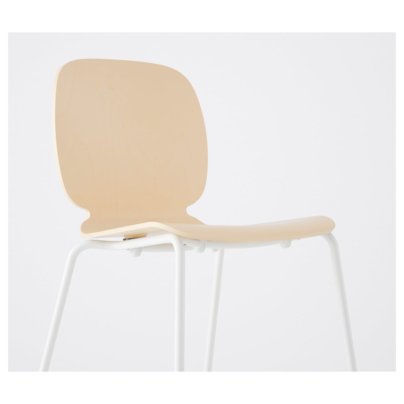 Svenbertil chaise bouleau broringe blanc ikea for Chaise assis genoux ikea