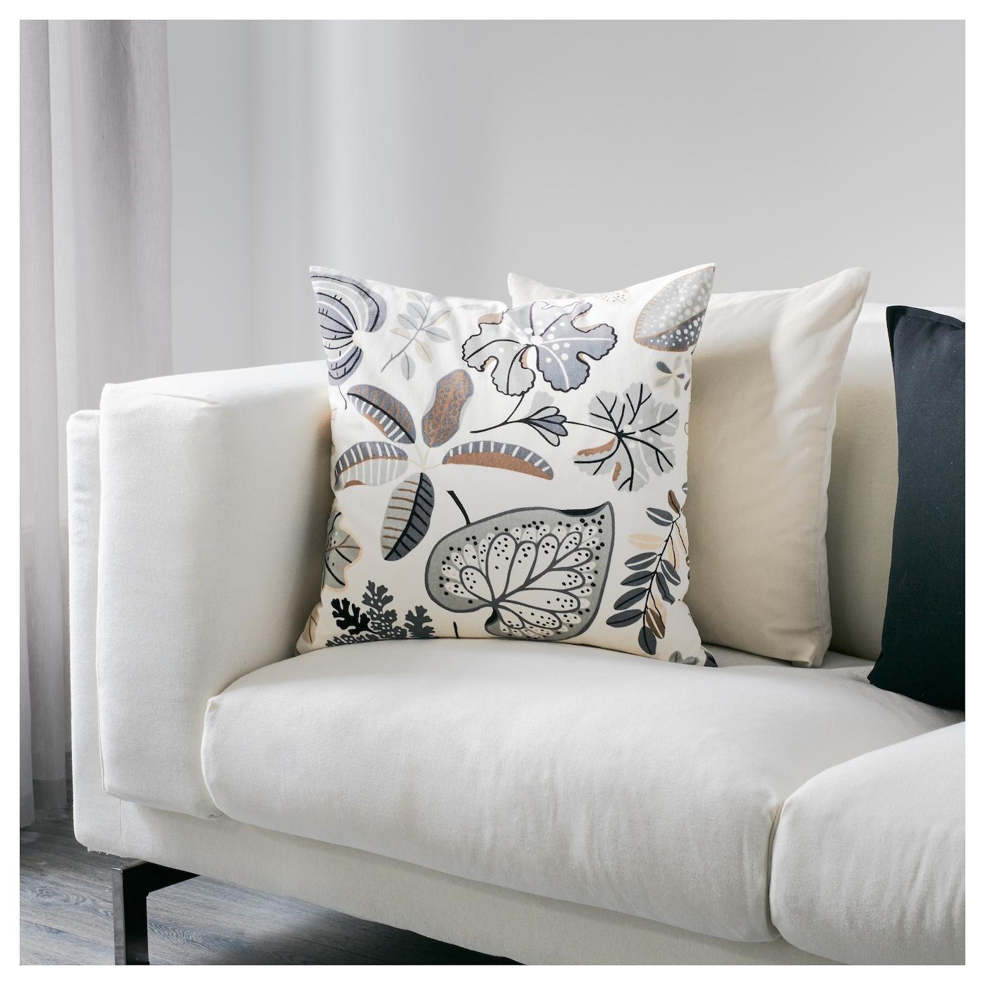 syssan coussin blanc beige 50x50 cm ikea. Black Bedroom Furniture Sets. Home Design Ideas