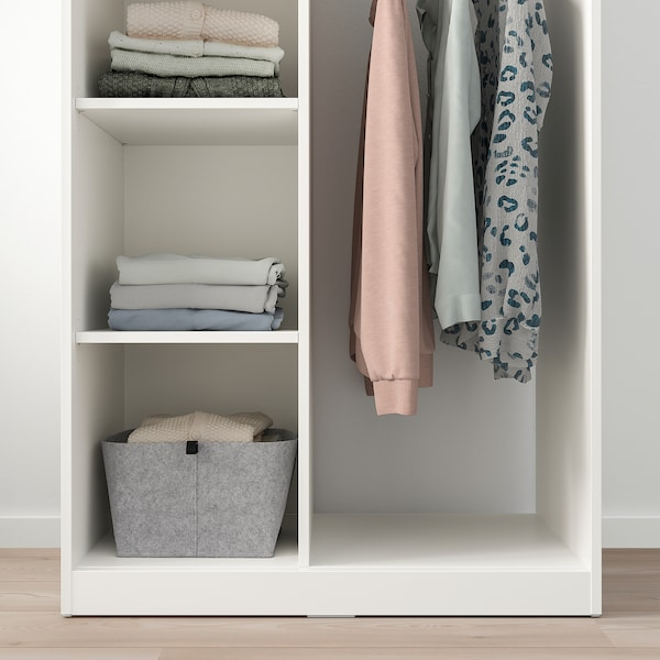 SYVDE Armoire ouverte, blanc, 80x123 cm