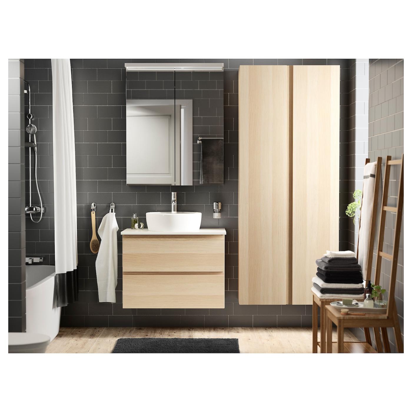 T rnviken lavabo poser blanc 45 cm ikea for Pose d un lavabo