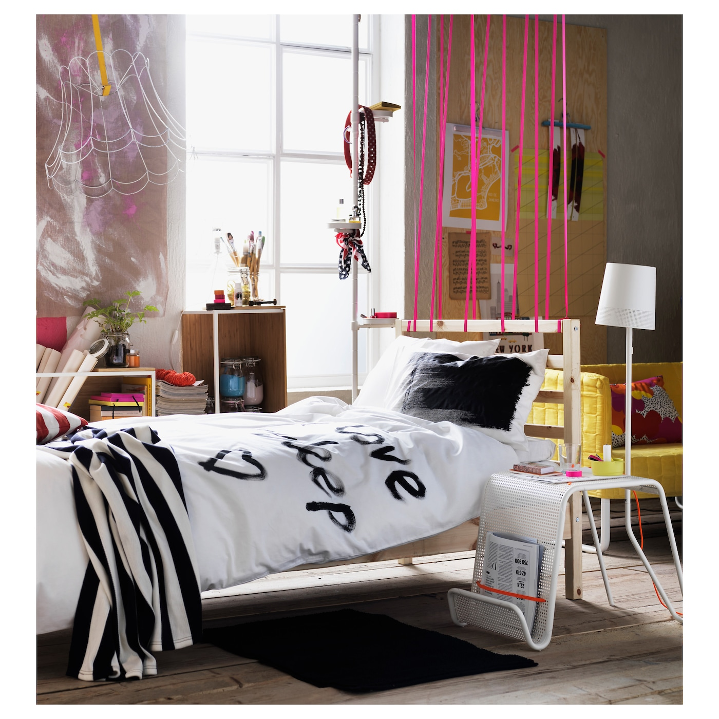 tarva cadre de lit pin l nset 90x200 cm ikea. Black Bedroom Furniture Sets. Home Design Ideas