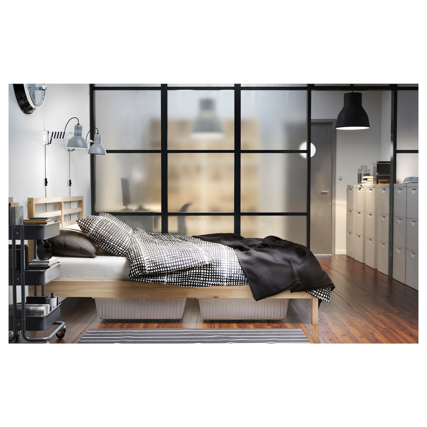 tarva cadre de lit pin 140 x 200 cm ikea. Black Bedroom Furniture Sets. Home Design Ideas