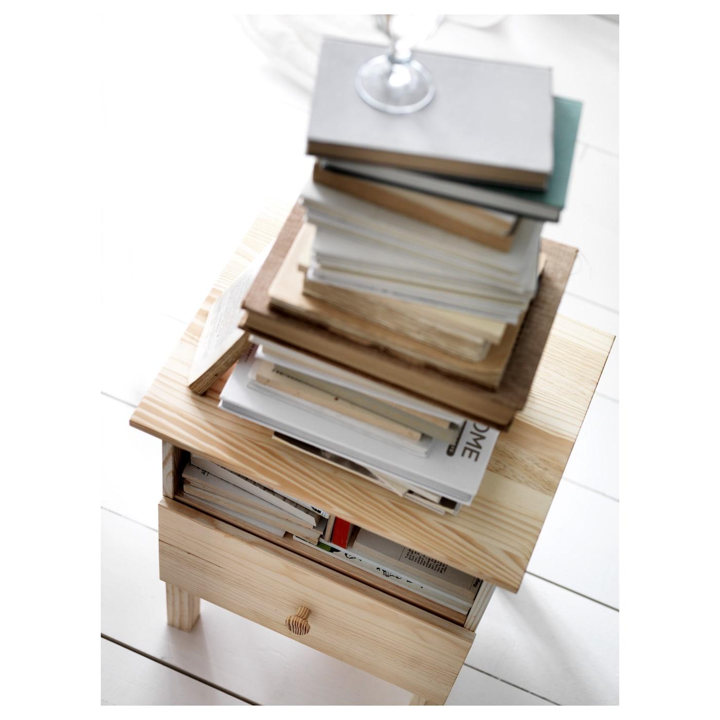 Tarva table de chevet pin 48 x 62 cm ikea - Mesilla malm ikea ...