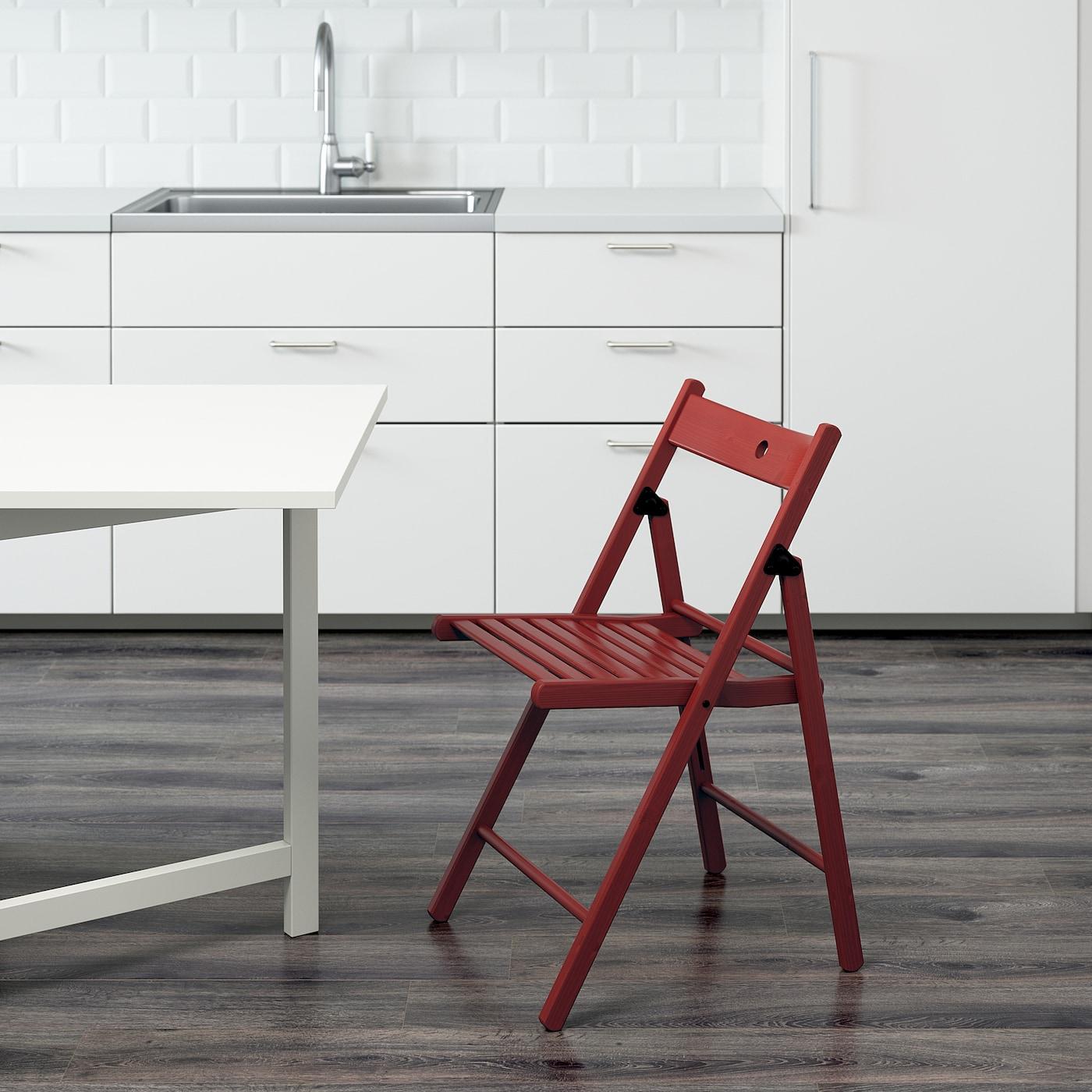 Ikea terje Chaise pliante Blanc Bois Massif Chaise en bois design chaise chaise de cuisine NEUF