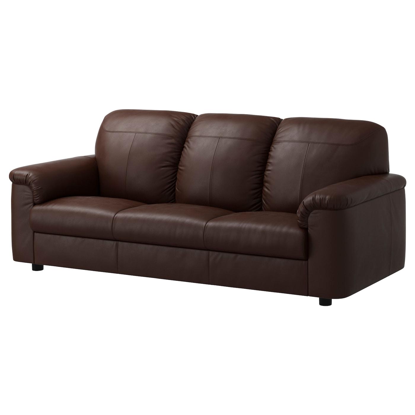 timsfors canap 3 places mjuk kimstad brun fonc ikea. Black Bedroom Furniture Sets. Home Design Ideas