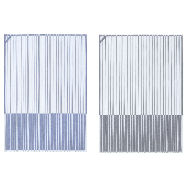 TIMVISARE Torchon, bleu foncé/noir, 50x70 cm